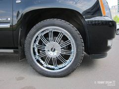 "Диски Avenue A603 22"" хром - Cadillac Escalade. Колёса: Toyo Open Country A/T 305/40 R22"